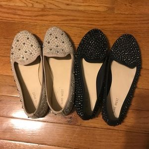 2 Pairs of Studded Nine West Flats